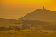 Prendiamo fiato / Just breathe (Seven Sisters, East Sussex United Kingdom) (AndreaPucci) Tags: sevensisters uk andreapucci sunset lighthouse cliffs eastsussex