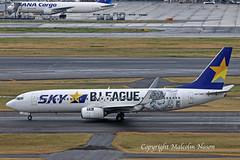 B737 JA73NY SKYMARK special colours 2 (shanairpic) Tags: jetairliner passengerjet b737 boeing737 tokyo haneda skymark n73ny