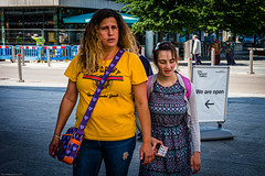 We are open (gwpics) Tags: female england outside people streetphotography candid southampton woman uk colour color editorial everydaylife hampshire hants lady lifestyle person society unitedkingdom exterior outdoors streetlife