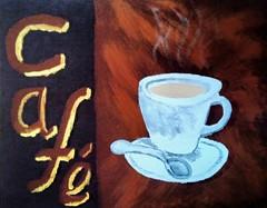 Cafe (M. Knuth) Tags: acryl malerei