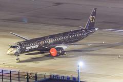 "Embraer E195-E2 PR-ZIQ ""Profit Hunter"" 002 (A.S. Kevin N.V.M.M. Chung) Tags: aviation aircraft aeroplane airport airlines apron plane spotting mfm macauinternationalairport night erj erj190400std e195e2 e195 embraer profithunter speciallivery"