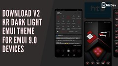 Download V2 KR Dark Light EMUI Theme for EMUI 9.0 Devices (rajajana@ymail.com) Tags: stock wallpapers