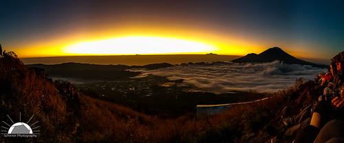 Sunrise view from Mt Batur