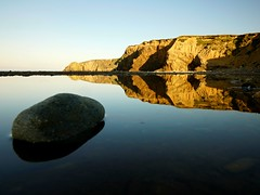 ireland landscape (nore.ie) Tags: ireland landscape landscapes copper coast reflection water rocks kilfarrasy beach blue ocean sunrise
