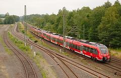 DB  Regio 442 259 & 442 301 - Stolberg Hbf (rvdbreevaart) Tags: db dbregio stolberg bombardier talent avv trein train eisenbahn railway ferrovie raw rawtherapee nahverkehr öpnv