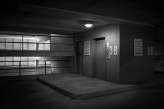 Three-B (shutterclick3x) Tags: parking garage blackandwhite bw moody lightandshadow frankloose