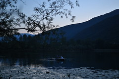 Calm navigation (Mi-Fo-to) Tags: lago revinenikon z6 high iso 25600 low light lake italy people boat minolta rokkor cle lens 40 mm 2 f2 handheld landscape