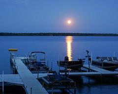 Moon Reflection (nikons4me) Tags: sonye1855mmf3556oss sonyalphanex7 minnesota mn marylake douglascounty moonreflection dock boats