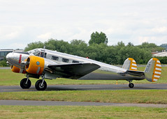 N184KP Beech 3TM Expeditor (Keith B Pics) Tags: londonsouthendairport keithbpics egmc sen grenchen lszg n184kp beechcraft expeditor c45 beech18