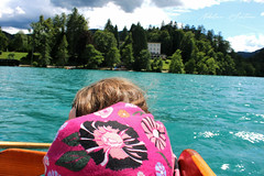 A child`s daydreaming in a boat (Nikolina Santovac) Tags: daydreaming boat child childhood lake bled slovenia vila