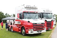 S Walker Transport Scania 124L Q811VWP Malvern Truckfest 2019 (davidseall) Tags: s walker transport scania 124l q811vwp malvern truckfest 2019 show vabis q811 vwp t cab tcab bonnetted lorry truck tractor unit artic large heavy goods vehicle lgv hgv haulage worcestershire uk 420