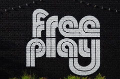 Free Play (dangr.dave) Tags: arlington tx texas downtown historic architecture tarrantcounty mural freeplay