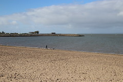 Dog walking on Morecambe beach (Ian Press Photography) Tags: morecambe lancs lancashire seaside sea side coast beach beaches dog walking