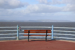 Bench at the end of the Stone Jetty at Morecambe (Ian Press Photography) Tags: morecambe lancs lancashire seaside sea side coast bench end stone jetty benches