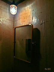 Aging Wall (creepingvinesimages) Tags: htt wall soapdispenser mirror bathroom moody inside portland oregon samsung s9 pse14 topaz restyle