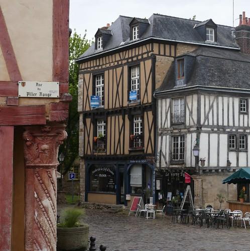 La Maison du Pilier vert (XVIe), square Jacques Dubois, cité Plantagenêt, Le Mans, Sarthe, Pays de la Loire, France.