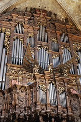 Gothic organ (tmeallen) Tags: pipe organ gothic 1539 gilded ornate cherubs restored barcelonacathedral cathedral holly cross saint eulalia barcelona spain travel history religion
