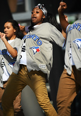 Toronto Blue Jays Dancers (Anthony Mark Images) Tags: torontobluejays probaseballleague baseballjerseys dancers prettygirls action dancing stage brownpants teens people portrait socamusic caribbeanfestival iriemusicfestival mississauga ontario canada canadianbaseballteam female nikon d850 flickrclickx