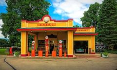 Shell Station (James Korringa) Tags: gilmorecarmuseum michigan shell station gas antique replica panasonicg85