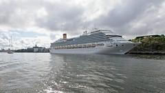 The cruise ship Costa Pacifica in Stockholm (Franz Airiman) Tags: båt boat ship fartyg stockholm sweden scandinavia fåfängan masthamnen s167 stadsgården