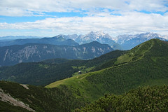 Green green world (LB1415) Tags: summer june green hills valley clouds mountain 1753m pine ridge pentax k200d rawtherapee cloud blue sky walking slovenia europe lb1415 allrightsreserved landscape alps house path interesting view poletje wow