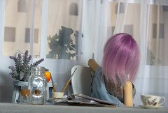 Evening1 (Ermilena Puppeteer) Tags: handmadeforbjd handmade dolldishes dishesfordolls dioramaforbjd diorama abjd porcelain ceramic