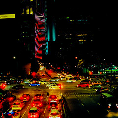Singapore's traffics (Thanathip Moolvong) Tags: hasselblad 501 cm lomography 800 negative film
