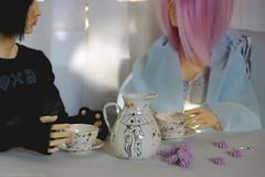 Morning (Ermilena Puppeteer) Tags: handmadeforbjd handmade dolldishes dishesfordolls dioramaforbjd diorama abjd porcelain ceramic