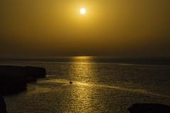 Fishing at Sunset (CraDorPhoto) Tags: sunset sea sun nature landscape outside outdoors golden boat mediterranean silhouettes malta gozo canon6d
