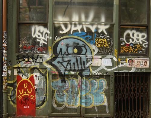 Paste Ups, Graffiti  Stickers  Lower Manhattan  DAK  GINA