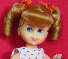 VINTAGE MOD BUFFY FAMILY AFFAIR TUTTI BARBIE DOLL w/ DOTTED DRESS OUTFIT (laika*2008) Tags: vintage mod buffy family affair tutti barbie doll w dotted dress outfit mattel japan