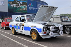 Ford Escort 1300E VLF496M (Andrew 2.8i) Tags: swccc stadium city cardiff show voitures voiture autos auto cars car classics classic welsh wales uk kingdom united british sports rally race rs avo rs2000 replica saloon sedan mark 1 mk mk1 1300e e 1300 escort ford