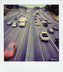 I-5 (Robert Drozda) Tags: portland oregon interstate5 i5 traffic transportation highway freeway automobile infrastructure polaroid polaroidoriginals instantfilm drozda