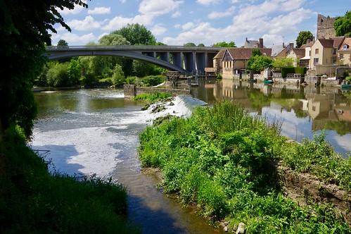 Weir on the River Sarthe