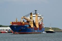 BBC Fuji Tyne 170719 (silvermop) Tags: ship boats ships sea heavyliftvessels cargovessels port rivertyne bbcfuji