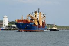 BBC Fuji. Tyne 170719 (silvermop) Tags: ship boats ships sea heavyliftvessels cargovessels port rivertyne bbcfuji