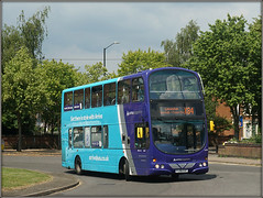 Arriva Midlands 4208 (Jason 87030) Tags: arriva midlands rugby blue leicester warks warwickshire bus buses doubledecker gemini eclipse colour color sony ilce alpha a6000 lens tag flickr transport
