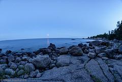 Special Moon last night (aixcracker) Tags: moon måne kuu nikond200 nikond500 samyang8mmf35 sigmas150600mmf563 emsalö emäsalo borgå porvoo suomi finland night natt yö july juli heinäkuu summer sommar kesä archipelago skärgård saaristo