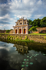 Imperial city @Hue (Phg Voyager) Tags: hue vietnam asia city gate imperial citadel nice color leica outdoor monument historical building architecture reflect phgvoyager fun clouds blue sky mp 24mm asph summilux river temple water chinese door