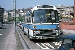 Ex- National Travel South West 173,  WFH 173S, Marlborough Street, Bristol, April 25th 1984 (Bristol RE) Tags: 173 wfh173s ntsw nationaltravelsouthwest leyland leopard psu3e4r plaxton supreme marlboroughstreet bristol