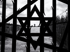 Jewish Memorial, Dachau (Feldore) Tags: bavaria dachau concentration camp jew jewish memorial star david germany nazi feldore mchugh em1 olympus figure abstract metal
