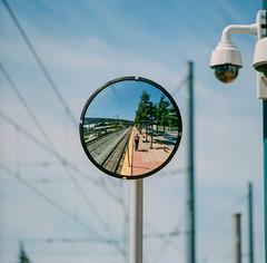 Surveillance (bior) Tags: mirror selfportrait hasselblad500cm fujipro 160ns pro160ns mediumformat 120 santateresa