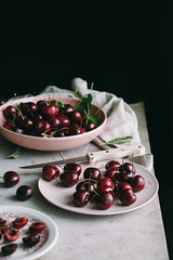 cherry (lisa_shen) Tags: foodphotography cherry summer dark moody fresh fruits