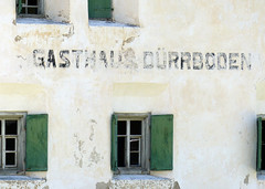 [Gasthaus Dürrboden] (pienw) Tags: gasthausdürrboden dürrboden switzerland letters window abandoned graubünden pratigau dischmatal