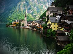 I need to go back II (jocsdellum) Tags: hallstatt austria osterreich lago llac lake verd greenwater agua atardecer sunset themostbeautifulvillageinaustria iglesia church reflexes