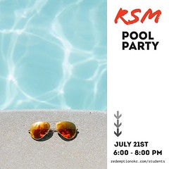 Hey students! RSM Pool Party is coming up! The next pool party is Sunday, July 21, 6:00 – 8:00 PM at the Tate's home. Guys, bring a salty snack; girls, bring a sweet treat to share. If you need more information, message us or email students@redemptionokc. (rcokc) Tags: hey students rsm pool party is coming up the next sunday july 21 600 – 800 pm tate's home guys bring salty snack girls sweet treat share if you need more information message us or email studentsredemptionokccom