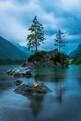 Hintersee, Bavaria, Germany (hubertbergauer) Tags: hintersee lake landscape orange fall autumn tree stone rock beautiful