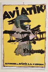 Aviatik Aircraft Poster (Bri_J) Tags: shuttleworthcollection oldwarden bedfordshire uk museum airmuseum aviationmuseum nikon d7500 aviatik aircraft poster biplane wwi