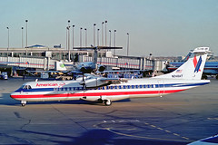 N248AT   Aerospatiale ATR-72-212 [248] (American Eagle / Simmons Airlines) Chicago-O'Hare Int'l~N 07/11/1991 (raybarber2) Tags: 248 alpechacollection cn248 filed flickr kord n248at negative planebase propliner usacivil