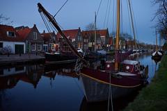 Edam (Julysha) Tags: edam boats february acr thenetherlands noordholland winter canal evening town nikkor1855afp d7200 2018